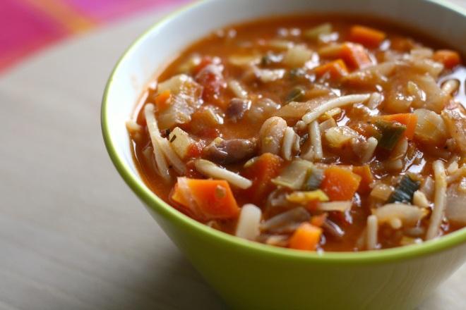 Minestrone sopa tipica toscana