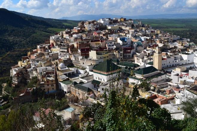 Moulay Idriss cidade sagrada marrocos vista do alto
