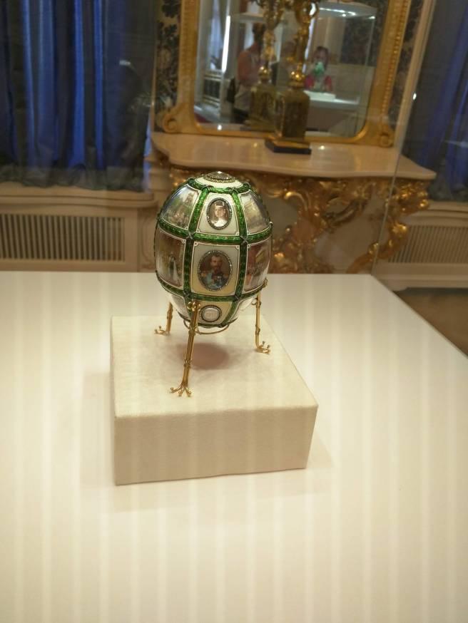 Museu Faberge Petersburgo ovo do aniversário de quinze anos