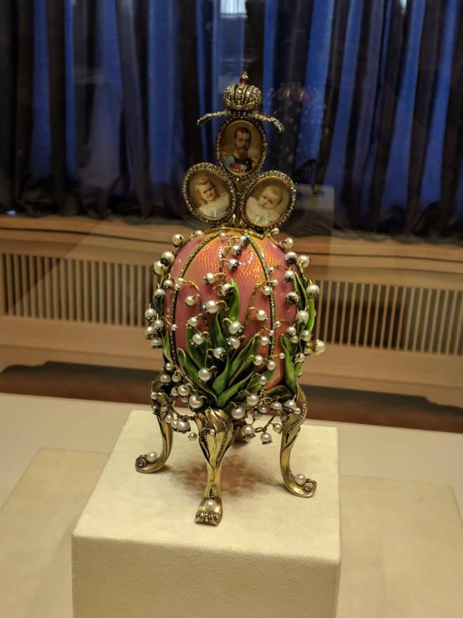 Museu Faberge Petersburgo ovo lirios do vale