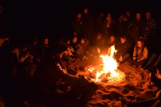 Saara Marrocos fogueira noite