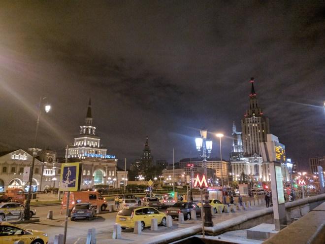 Sete irmãs arranha ceus moscou stalin predio portão vermelho e hotel hilton leningradskaya