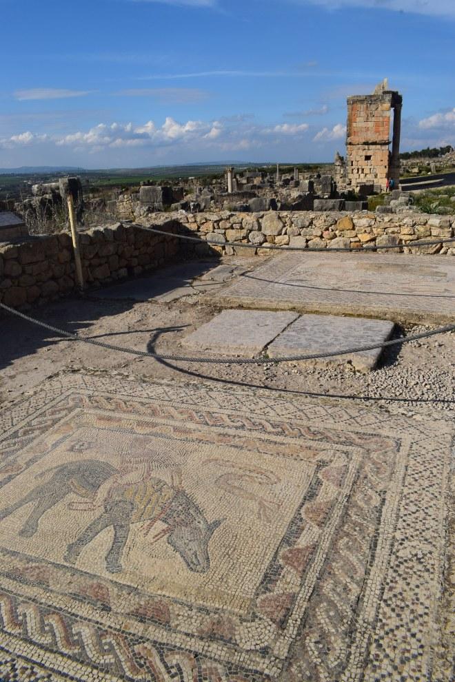 Volubilis ruinas romanas Marrocos casa de caça