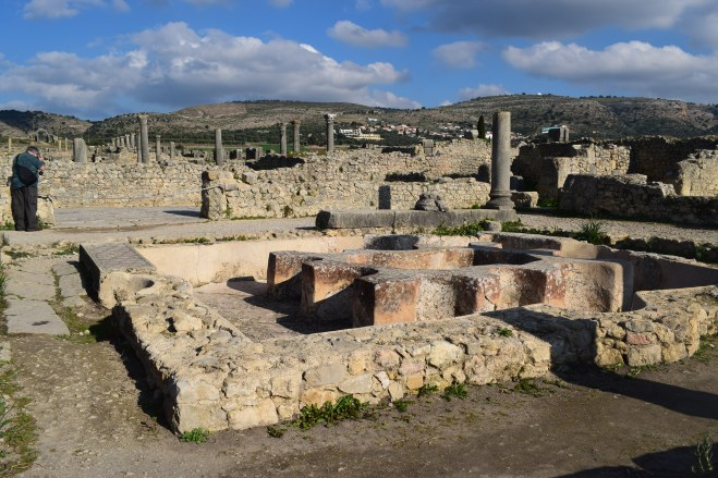 Volubilis ruinas romanas Marrocos termas romanas