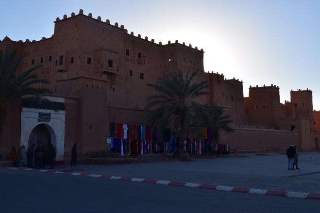 Ouarzazate Kasbah Taourirt vista de fora