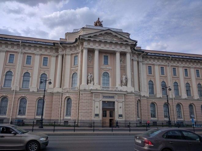 Petersburgo ilha vassilievski academia de belas artes