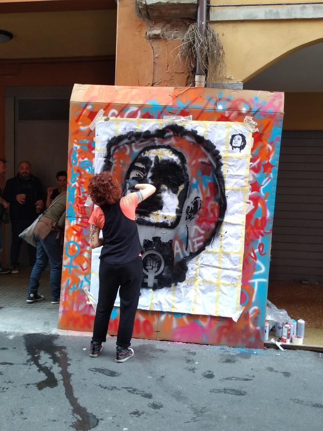 Pratello r'esiste festa antifascista bologna retrato marielle