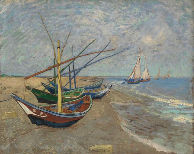 van gogh museu amsterdam barcos pescadores