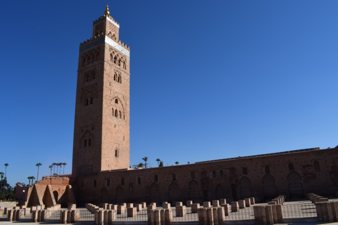 Marrocos Marrakech praça central djema el-fna koutobia