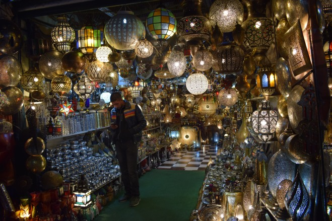 Marrocos Marrakech praça central djema el-fna lojas