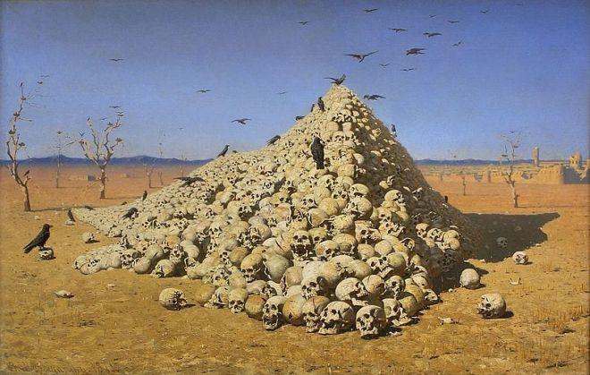 moscou galeria tretiakov vereshchagin apoteose da guerra