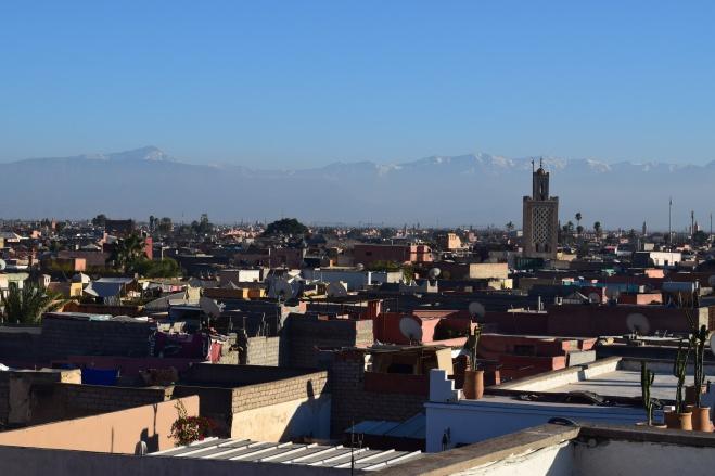 Marrocos marrakech museu fotografia vista medina