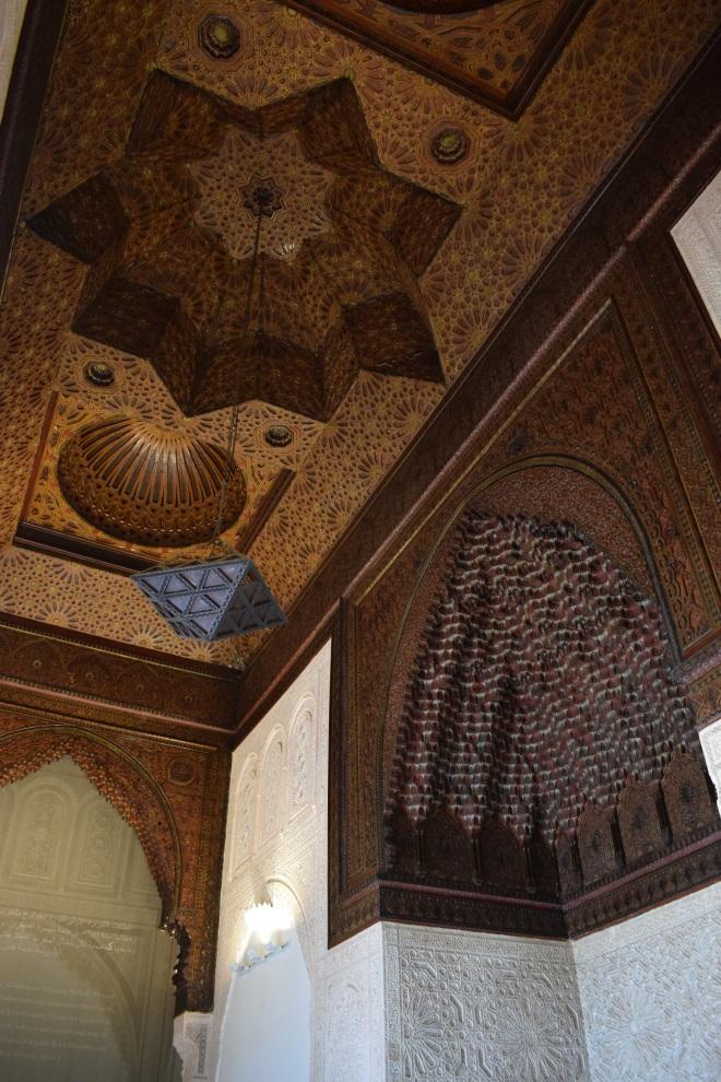 Marrocos Tangier museu arte kasbah tetos