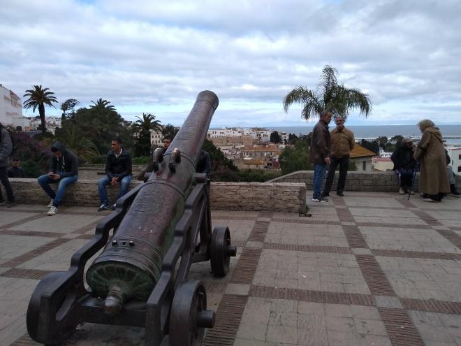 Marrocos Tangier terrasse des parresseux vista para a Espanha